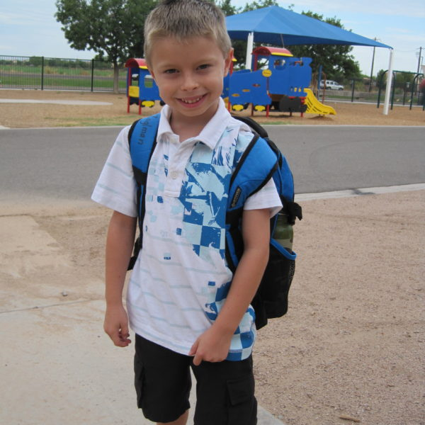 Alec in kindergarten.
