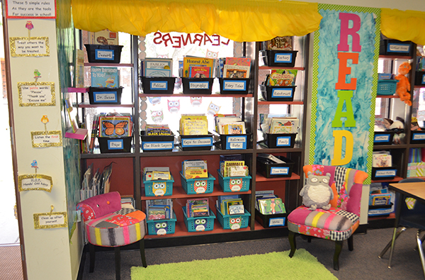 Books bins for classroom library