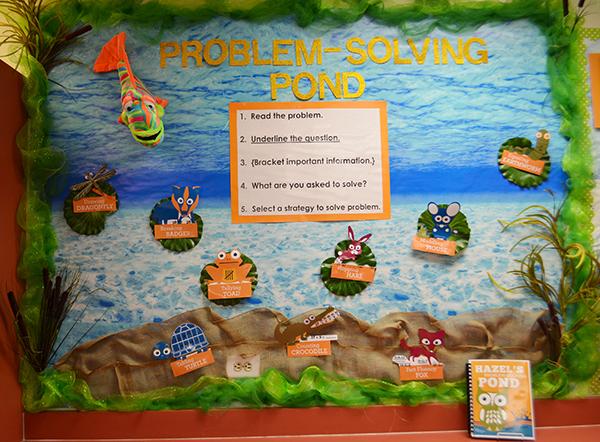 Hazel's Problem Solving Pond: Math Bulletin Board