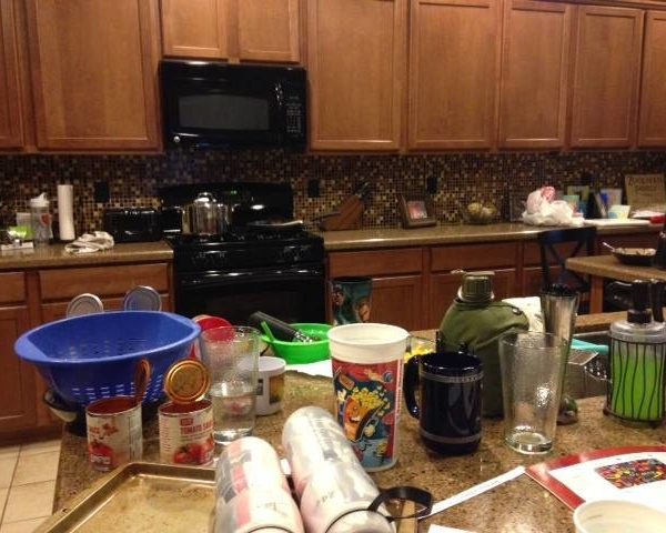 My dirty dishes :(