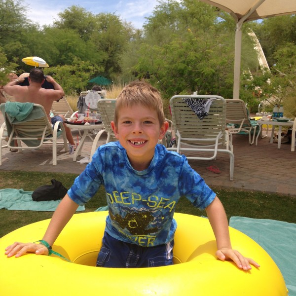 Jake at the water park.