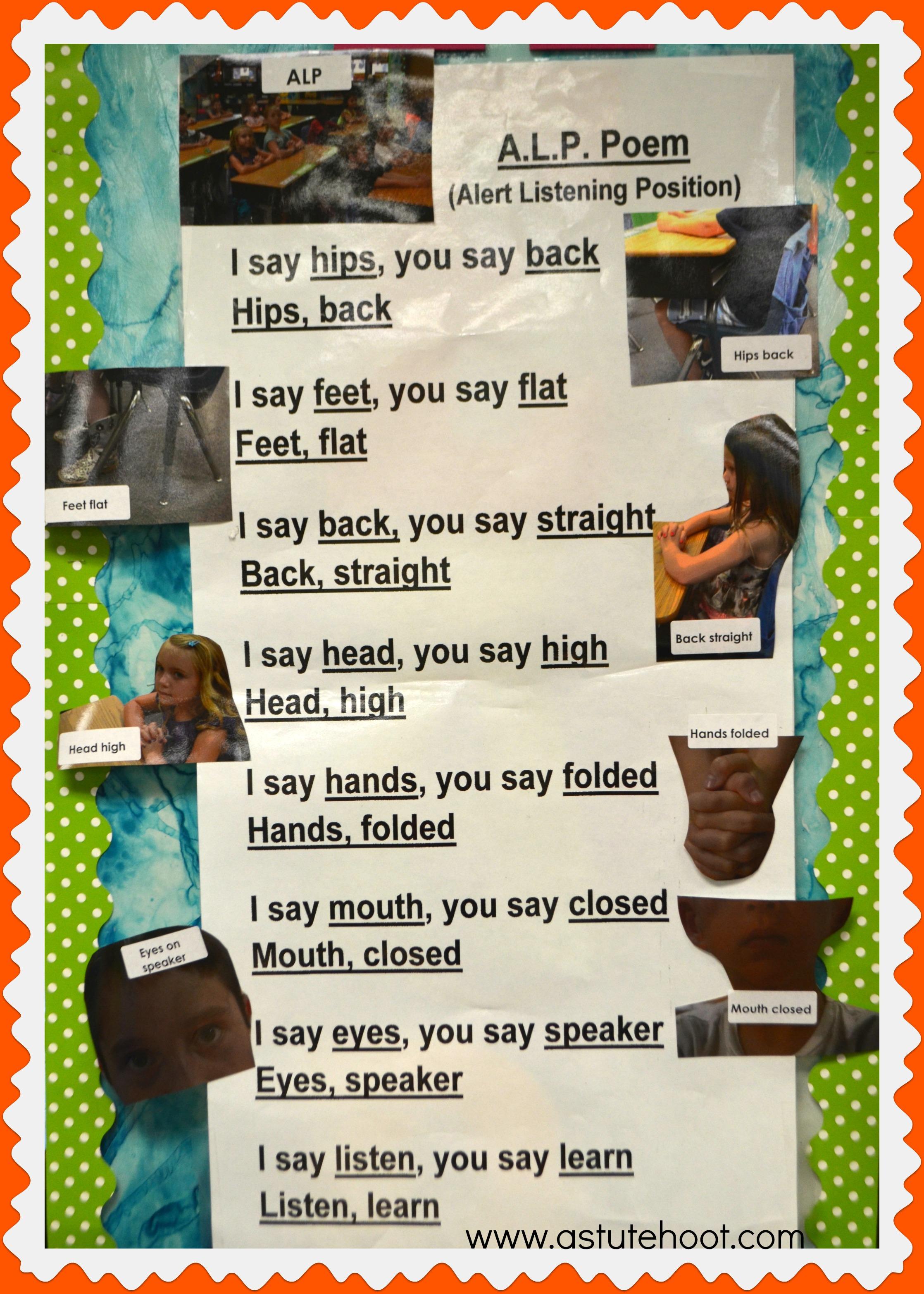 ALP poem class