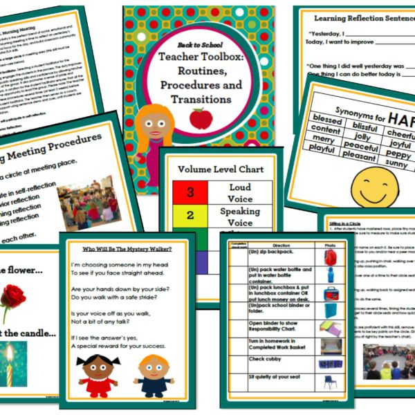 Back to School Teacher Toolbox:  Routines, Procedures and Transitions