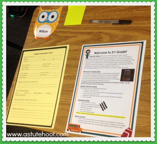 meet teacher paperwork