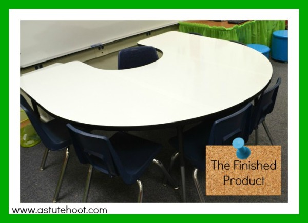 Use this dry erase table to promote active engagement during small group instruction.