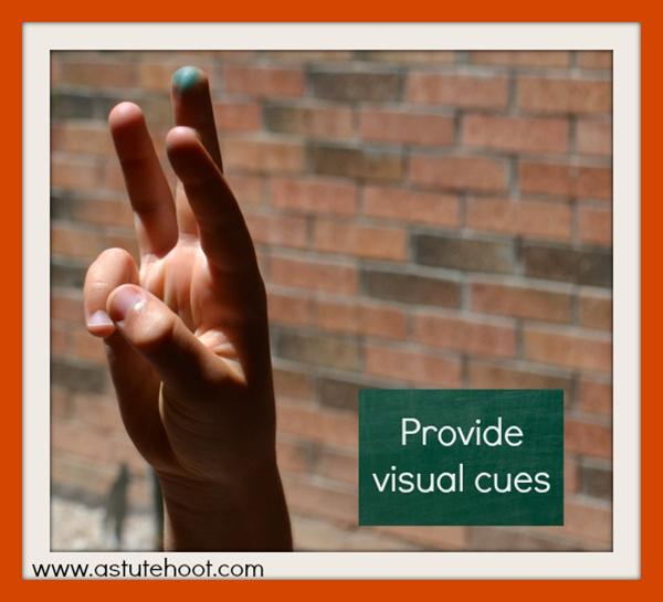 provide visual cues_web