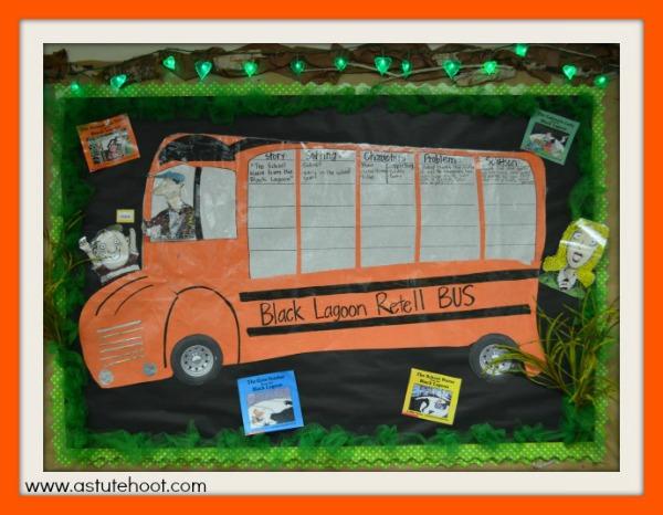 Black Lagoon retell bus-- Halloween Blog Hop