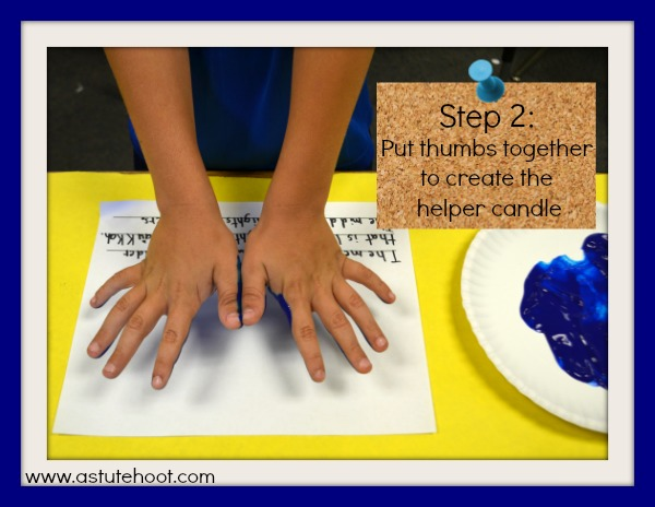 handprint menorah step 2