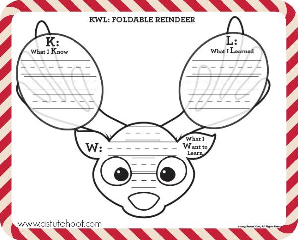Reindeer KWL foldable
