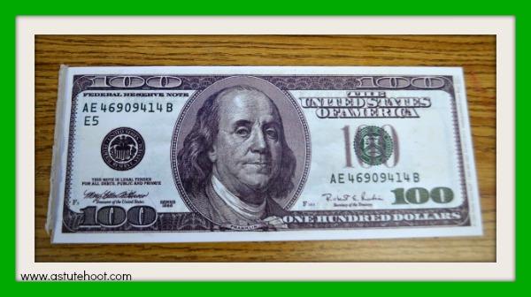 $100 pad