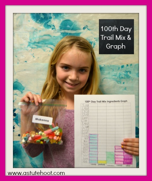 100th Day Trail Mix & Graph