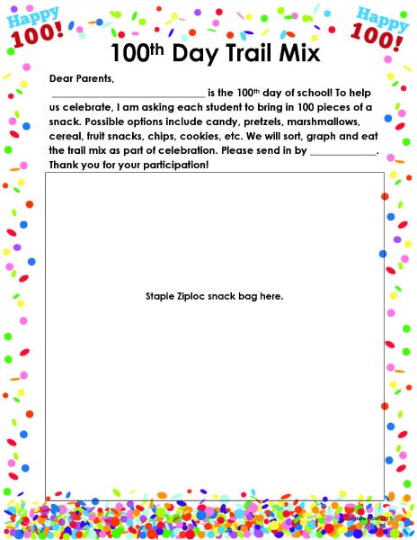 100th Day letter
