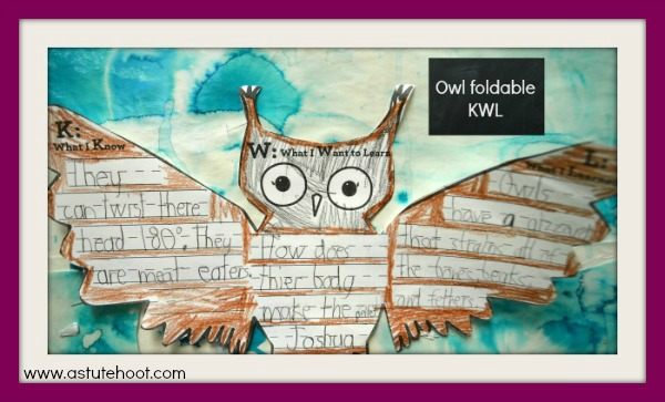 Owl foldable KWL