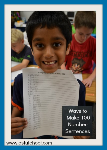 Ways to Make 100 Number Sentences