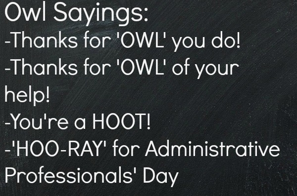 Administrative Professionals' Day Sayings
