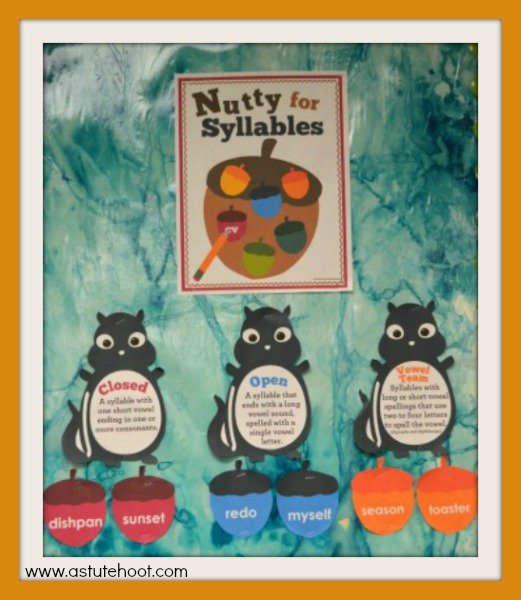 Nutty for Syllables Word Wall