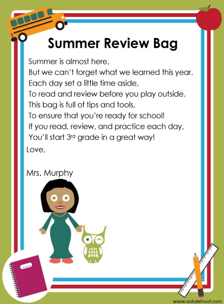 Summer review bag