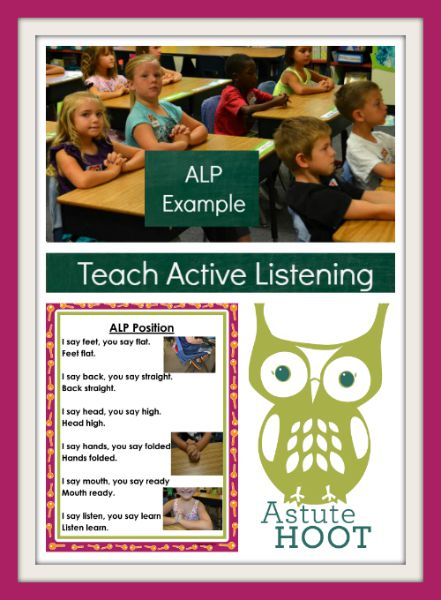 Teach active listening collage