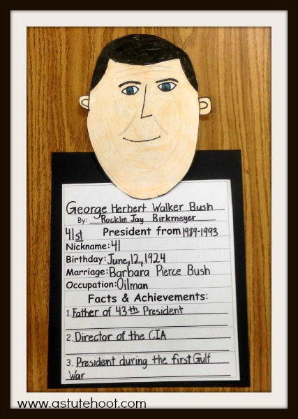 George Bush completed report