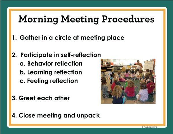 Morning Meeting procedures